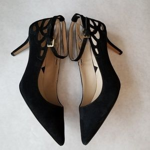 Adrienne Vittadini New black suede cut out heels 8
